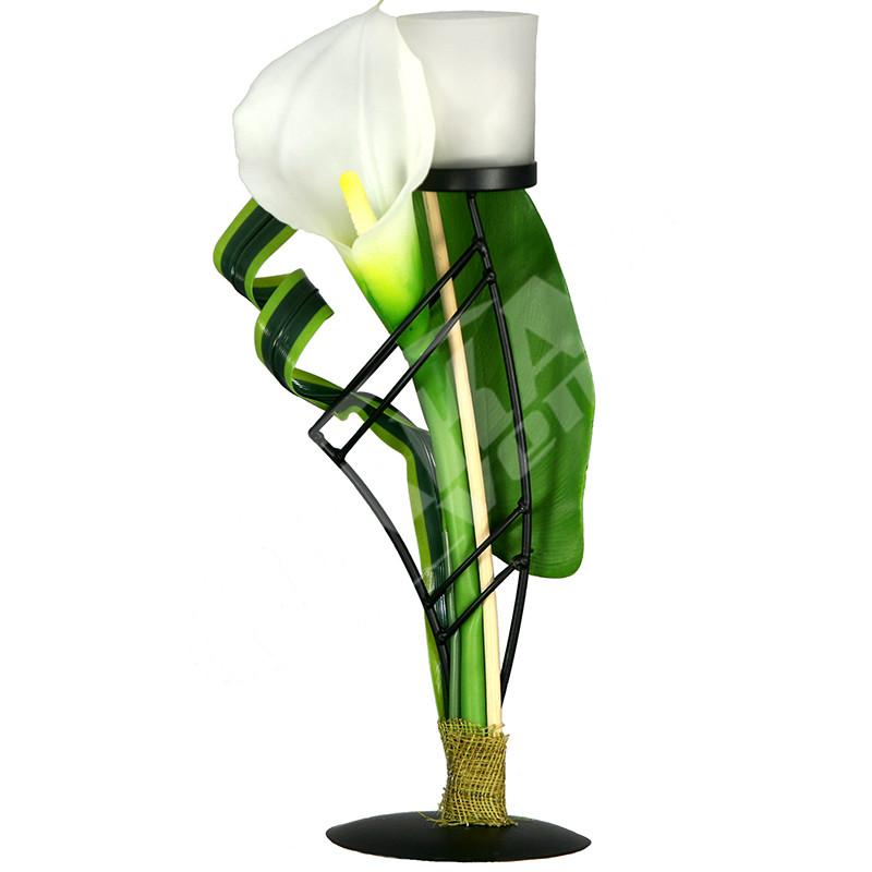 Svietnik s kvetom AJ1009