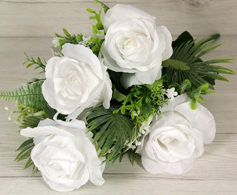 Kytica ruža doplnky x9  JX19975-CR