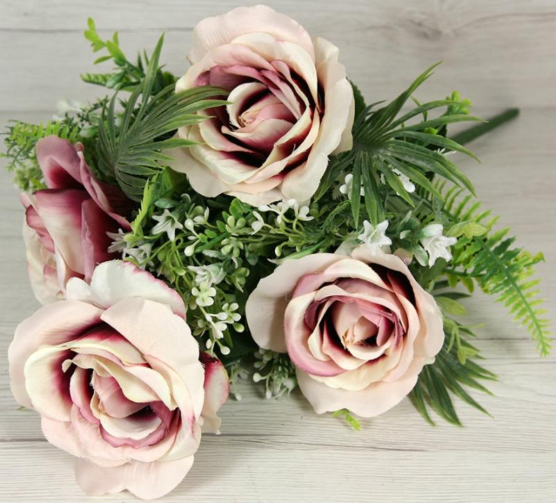Kytica ruža doplnky x9