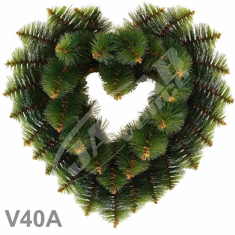 Srdcia borovicové dvojfarebné 40A