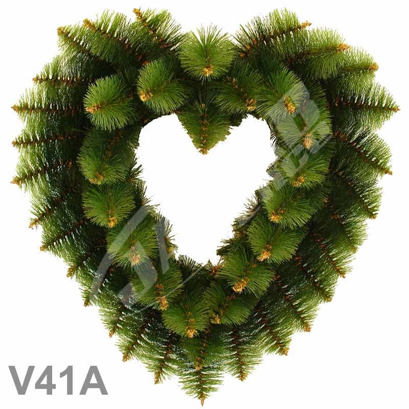 Srdcia borovicové dvojfarebné 41A