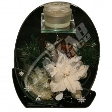 Vianočná sklenená dekorácia AJ1014