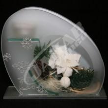 Vianočná sklenená dekorácia AJ1015