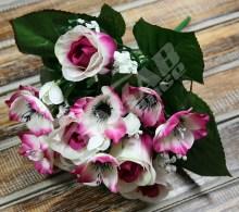 Kytica ruža puk anemonka x9  JX1315