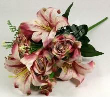 Kytica ruža ľalia hortenzia x12  JX1325