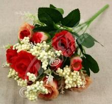 Kytica ruža doplnky x10  JX1328