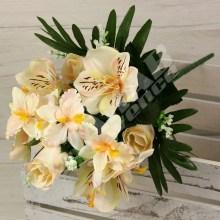 Kytica ruža alstroemeria orchidea x10  JX1580