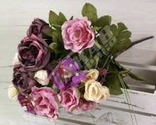 Kytica ruža pivónia orchidea x14  JX1665