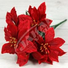 Kytica vianočná ruža x6  JX1666