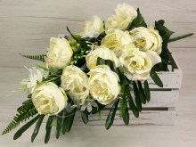 Kytica pivónia ruža x11  JX172-CR