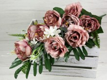 Kytica pivónia ruža x11  JX172-7