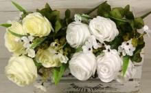 Kytica ruža doplnky x10  JX191198-CR