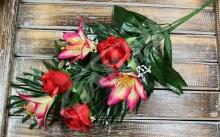 Vetva ruža ľalia x6  JX20
