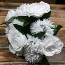 Kytica ruža chryzantéma x12  JX2052-CR