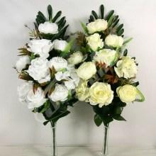 Kytica ruža pivónia x18  JX2103-CR