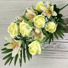 Kytica ruža ľalia x12  JX999