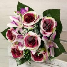 Kytica ruža orchidea x12  SA6078